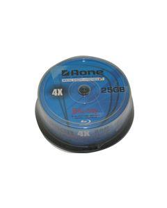 AOne 4X Blu-Ray 25GB 130Min Printable 25pk