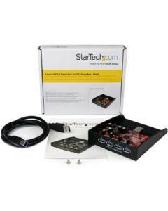 "Startech 4 Port USB3.0 Panel  Hub for 3.5"" Front Bay - Black"