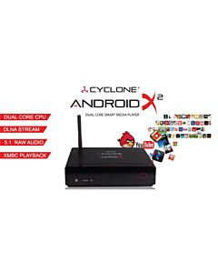 Cyclone ANDROID X2 , Dual Core Smart Media Enclosure (takes upto2Tb HDD)