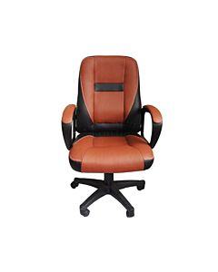 Brand New Design swivel PU Leather Brown Color Office Chair MO-19 Brown