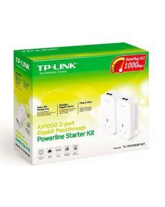 TP-LINK (TL-PA7020P KIT) 1000Mbps GB Powerline Adapter Starter Kit, AC Pass Through