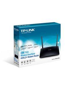 TP-LINK (Archer D20) AC750 (300+433) Wireless ADSL2+ Dual Band 10/100 Modem Router, EWAN, USB
