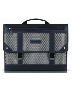 "Joseph Abboud Hartford 15"" Messenger Tote Laptop Bag - Pewter Basket Weave - JA-C102-505"