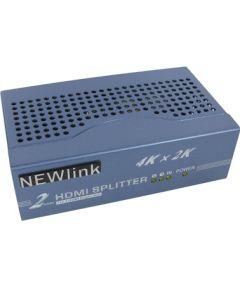NewLink 2 Port 4K HDMI Splitter ( duplicates image on to 2 screens ) - NLHDSP402-HS4K