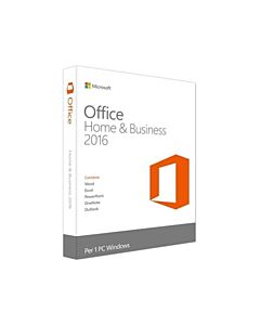 MS Office 2016 Home & Business, 1 User/1 PC Licence Only - T5D-02374