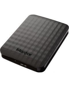 3TB Maxtor M3 Portable External HDD, 1xUSB 3.0, Bus Powered, Black, for Windows/Mac - STSHX-M301TCBM