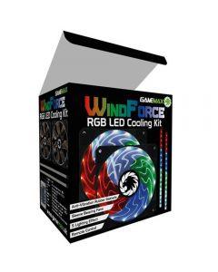 Game Max Windforce 2x45 Led RGB 12cm Cooling Fans 2xRGB 30cm LED Strips & Remote - GMX-WF12RGB