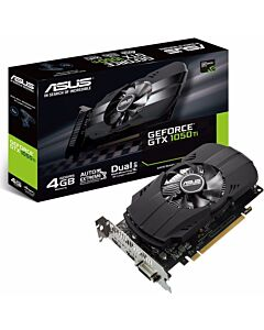 Asus GeForce GTX 1050 Ti Phoenix Graphics Card, 4GB GDDR5(7008MHz - 128bit), 768 Core, 1290MHz GPU, 1392MHz Boost - PH-GTX1050TI-4G