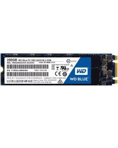 250GB WD Blue SSD, M.2 (22x80) SSD, SATA III - 6Gb/s, 1.5 mm, Read 540MB/s, Write 500MB/s, 97K/79K IOPS, 100TBW, Retail - WDS250G1B0B