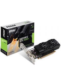 MSI GTX 1050Ti 4GT LP, 4Gb DDR5, 768 Core, 1290 MHz GPU, 1392 MHz Boost, with Low Profile Bracket - Geforce GTX 1050Ti 4GT LP