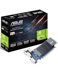 Asus nVidia Geforce GT710, 2GB DDR5(5012MHz),Core Clock : 954 MHz, PCIe2.0, VGA/DVI/HDMI, Silent Edition - 90YV0AL1-M0NA00