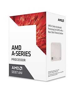 AMD A10 9700, sAM4, APU, Quad Core, 4 Thread, 3.5GHz/3.8GHz Turbo, 2MB Cache, 1029MHz Radeon R7 Graphics with 6 GPU Cores, 65W, Retail Box with Cooler - AD9700AGABBOX