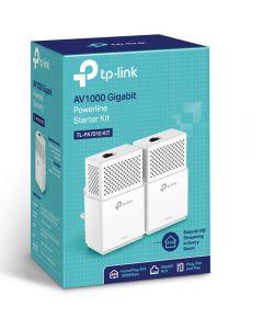 TP-LINK TL-PA7010 KIT AV1000 GBit Powerline Adapter Twin Pack, 1-Port