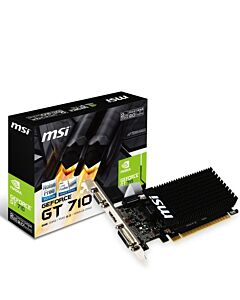 MSI Geforce GT710 Silent 2GB DDR3 VGA/DVI-D/HDMI + Low Profile Brackets - GT 710 2GD3H LP