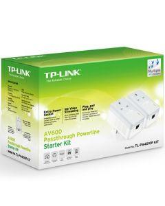 TP-LINK (TL-PA4010P KIT V3) AV600 10/100 Powerline Adapter Kit, AC Pass Through - TL-PA4010P KIT V3