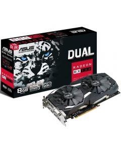 ASUS Radeon RX 580 DUAL OC 8Gb DDR5 - 8000MHz, 14nm Polaris, 2304 Streams, GPU - 1360MHz/1380MHz in OC, 2x DP/2x HDMI 2.0/DVI-D DL - DUAL-RX580-O8G
