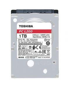 """Toshiba 2.5"""", 1TB, SATA3, L200 Hard Drive, 5400RPM, 128MB Cache, 7mm - HDWL110UZSVA"""
