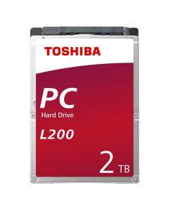 """Toshiba 2.5"""", 2TB, SATA3, L200 Hard Drive, 5400RPM, 128MB Cache, 9mm - HDWL120UZSVA"""