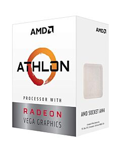 AMD Athlon 200GE with Radeon Vega 3 (1000MHz) Graphics, sAM4, Dual Core / 4 Thread, 3.2GHz, 5MB, , 35W, Retail Box with Cooler - YD200GC6FBBOX