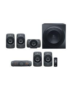 LOGITECH Z906 Multimedia 5.1 PC Speakers, THX Certified, DTS, 500Watt RMS -5 x satellite speaker - 67 Watt - wired / 1 x subwoofer - 165Watt - wired , Control Unit + Infrared Remote - 980-000469