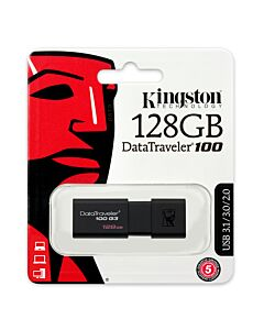 128GB Kingston USB 2.0/3.0 DataTraveler100 G3 - DT100G3/128GB