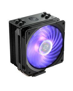 Cooler Master Hyper 212 RGB Black Edition, 1x120mm RGB Fan, Aluminium Fins, 4x Copper Heatpipes, Intel/AMD/AM4 - RR-212S-20PC-R1