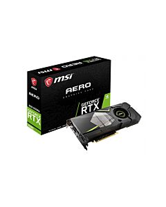 MSI GeForce RTX 2080 AERO 8GB GDDR6 (14000MHz - 256bit), VR Ready, GPU Cores - 2944, GPU Clock - 1515MHz/1710MHz Boost, 3xD.Port 1.4/1xHDMI 2.0b/1xUSB Type-C (VirtualLink) - RTX 2080 AERO 8G
