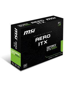 MSI nVidia Geforce GTX 1050 TI OC AERO ITX 4GB GDDR5(7008MHz - 128bit) DirectX 12, GPU Cores - , GPU Clock - 768, 1341MHz/Boost 1455MHz, D.Port (V1.4) /HDMI 2.0b/DL-DVI-D  - GeForce GTX 1050 Ti AERO ITX 4G OC