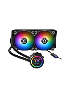 Thermaltake Water 3.0 ARGB, 240mm All-In-One CPU Hydro Cooler with ARGB Lighting, 2x120mm PWM Fan, Intel/AMD/AM4 - CL-W233-PL12SW-A