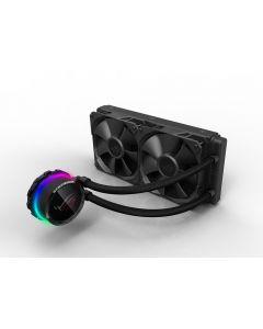 Asus ROG Ryuo 240mm Liquid CPU Cooler, 2 x 120mm PWM Fan, Full Colour OLED Display, RGB Block - 90RC0040-M0UAY0