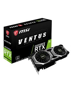 MSI GeForce RTX 2080 Ventus 8G V2 (8GB GDDR6/PCI Express 3.0/1710MHz/14000MHz) - 912-V372-215 - 4719072616540