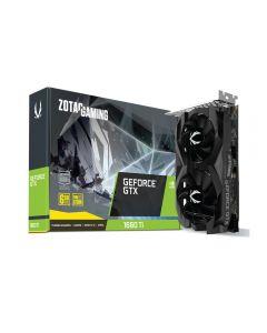 Zotac GeForce GTX 1660 Ti, 6GB GDDR6 (12000MHz - 192bit), VR Ready , Twin Fan, GPU Cores - 1536, GPU Clock - 1500MHz/1770MHz(Boost), 3xD.Port/1xHDMI - ZT-T16610F-10L