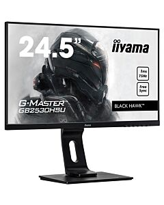 "IIyama 24.5"" G-Master FreeSync Gaming Monitor, 1920x1080, 1ms, D.Port/HDMI/VGA, Height Adjust, Speakers, USB Hub - GB2530HSU-B1"