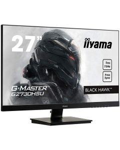 """IIyama 27"""" Black Hawk, AMD Freesync Gaming Monitor, 1920x1080, 75Hz, TN Panel, 1ms, Speakers, USB Hub, DP/HDMI/VGA - G2730HSU-B1"""