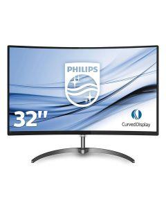 "Philips 32"" Full HD LED Curved Monitor, VGA/D.Port/HDMI - 328E8QJAB5"