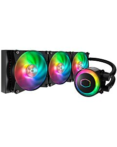 Cooler Master MasterLiquid ML360R with 3 x A-RGB 120mm PWM Fans, 360mm All-in-One Hydro CPU Cooler, Aluminium/Copper - MLX-D36M-A20PC-R1