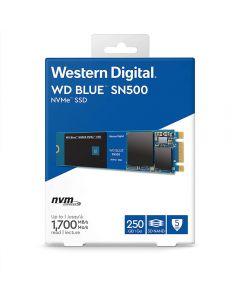 WD Blue 250Gb M.2 (2280) NVMe SSD, PCIe 3.0 (x2) , Read 1700MB/s, Write 1300MB/s, 210k/170k IOPS Max - WDS250G1B0C