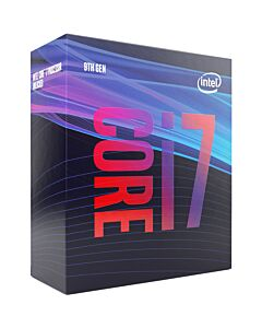 Intel Core i7 9700, s1151, 8 Core, 8 Thread, 3GHz, 4.7GHz Turbo, 12MB, 1200MHz GPU, 65W, Retail Box with Cooler -