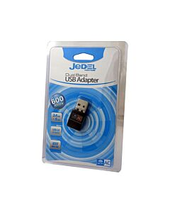 Jedel USB 2.0, 600Mbps, 802.11g/n/ac, Dual Band - 2.4/5Ghz, Wireless Adaptor