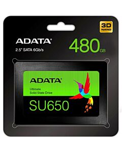 """ADATA 480GB Ultimate SU630 SSD, 2.5"""", SATA3, 7mm , 3D QLC NAND, R/W 520/450 MB/s, 75K IOPS - ASU650SS-480GT-R"""