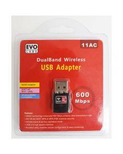 EVO Labs USB 2.0, 300Mbps, 802.11g/n, 2.4 Ghz, Wireless Adaptor