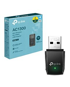 TP-LINK (ARCHER T3U) AC1300 (867+400) Wireless Dual Band Mini USB Adapter, 2.4GHz and 5GHz, MU-MIMO, USB3