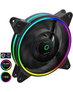 GameMax Razor 12cm Rainbow ARGB Fan RTB 3pin M&F Aura Header 3pin/4pin Power - 5055492408143