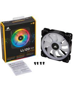 Corsair LL120 RGB, 120mm Fan, 9 Blade, PWM, 16 LED RGB Dual Light Loop, 4-pin - CO-9050071-WW