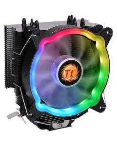 ThermalTake UX200, 120mm ARGB LED Fan, Single Tower, 1500rpm, PWM, Aluminium Fins, Copper Heatpipes - CL-P065-AL12SW-A