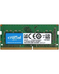 8GB (1x8GB) Crucial DDR4 SO-DIMM Laptop/SFF Memory, PC4-19200 (2400), Non-ECC, Unbuffered, CAS 17, 1.2V - CT8G4SFS824A