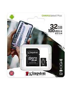 Kingston Micro SDHC 32GB Class10 (with SD Adaptor) , 100MB/s - SDCS2/32GB