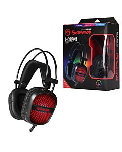 Marvo Scorpion HG8941 Stereo Sound RGB LED Gaming Headset - 2 x 3.5mm & USB (for LEDs)