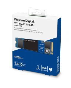 1TB WD Blue SN550, M.2 (2280) PCIe 3.0 (x4) NVMe SSD, 2400MB/s Read, 1950MB/s Write, 410k/405k IOPS - WDS100T2B0C