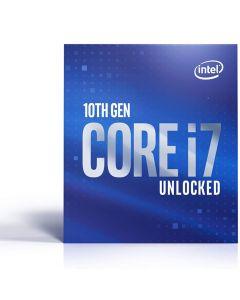 Intel Core I7-10700K, s1200, 3.8 GHz (5.1 Turbo), 8-Core/16-Thread, 125W, 14nm, 16MB Cache, Overclockable, Comet Lake, Retail Box - NO HEATSINK/FAN